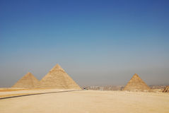 egypt giza stora pyramider Arkivfoto