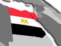 Egypt on globe with flag Royalty Free Stock Image