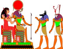 egypt gudar stock illustrationer