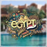 Egypt hand lettering and doodles elements Royalty Free Stock Photos