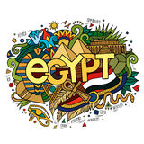 Egypt hand lettering and doodles elements Royalty Free Stock Photo