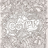 Egypt hand lettering and doodles elements Royalty Free Stock Images