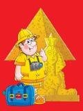 egypt handelsresande royaltyfri illustrationer