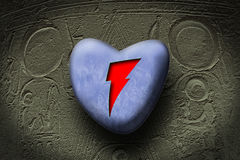 Egypt heart. An iced heart covered another really lover heart Vector Illustration