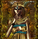 Egypt On Her Mind. This portrait depicts an ancient Egyptian queen deep in thought Stock Images