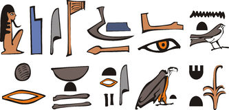 Egypt hieroglyph. Egypt color  old hieroglyph Royalty Free Stock Photos