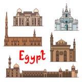 Egypt historic landmarks and sightseeings Royalty Free Stock Photos