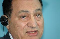 egypt Hosni Mubarak president Royaltyfria Foton