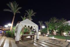 egypt hotelowy noc zdroju widok Obrazy Stock