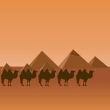 egypt husvagn royaltyfri illustrationer