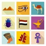 Egypt icon set Royalty Free Stock Images