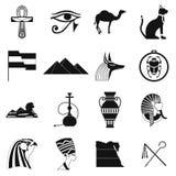 Egypt icons black Stock Image