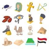Egypt icons cartoon Royalty Free Stock Photo