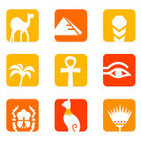 Egypt icons and design elements block. Royalty Free Stock Photo
