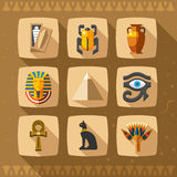 Egypt icons and design elements  Stock Photos