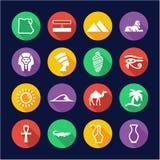 Egypt Icons Flat Design Circle Royalty Free Stock Photography