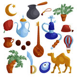 Egypt icons set, cartoon style Royalty Free Stock Photography