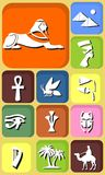 Egypt icons Stock Photography