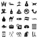 Egypt icons set, simple style Royalty Free Stock Photo