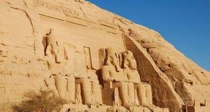 egypt ii ramsesstatyer Royaltyfria Foton