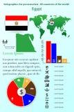 egypt Infographics för presentation Alla länder av världen stock illustrationer