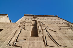 Egypt Isis temple. Temple of Philae - the ancient egyptian temple to the Goddess Isis.. View on the Pylon. Egypt stock photos