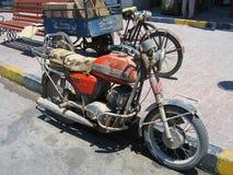 Egypt java motorcycle. Egypt old java motorcycle bike Royalty Free Stock Images