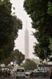 Egypt Kairo-Turm im dichten Smog lizenzfreies stockfoto