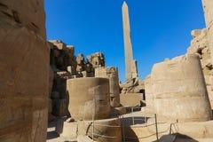egypt karnak serii świątyni thebes Obrazy Royalty Free