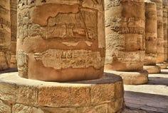 egypt karnakluxor tempel Arkivbild