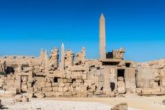 egypt karnakluxor tempel Arkivbilder