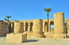 egypt karnaktempel Arkivfoto