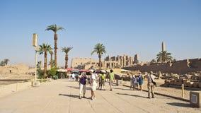 egypt karnaktempel Arkivfoton
