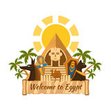 Egypt label Royalty Free Stock Photo