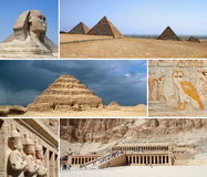 Egypt Landmark Collage. Tourist highlights Royalty Free Stock Photo