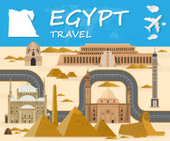 Egypt Landmark Global Travel And Journey Infographic background. Royalty Free Stock Photos