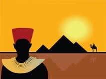 egypt landskapvektor stock illustrationer