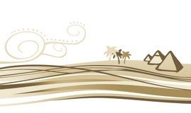egypt liggande stock illustrationer