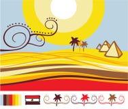 egypt liggande royaltyfri illustrationer