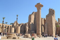 Egypt, Luxor. Beautiful Egypt, Luxor. The ancient civilizations. World attractions. Ancient Egyptian Architecture Royalty Free Stock Images