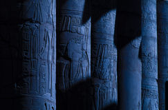 Egypt Luxor columns Stock Photos
