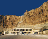 Egypt. Luxor. Deir el-Bahari (or Deir el-Bahri). The Mortuary Temple of Hatshepsut Stock Photos