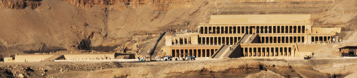 Egypt. Luxor. Deir el-Bahari (or Deir el-Bahri). The Mortuary Temple of Hatshepsut Stock Photography
