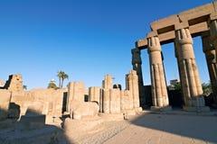 egypt luxor fördärvar tempelet Fotografering för Bildbyråer