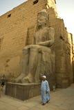 egypt luxor pharaonic skulpturtempel Arkivfoton