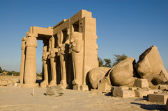 egypt luxor ramesseum Royaltyfria Bilder