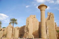 egypt luxor tempel Royaltyfri Bild