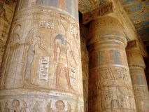 egypt luxor tempel antonioarkitekturbarcelona kolonner detail gaudiguellparken spain Royaltyfria Bilder