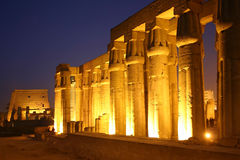 Egypt Luxor temple Royalty Free Stock Photo