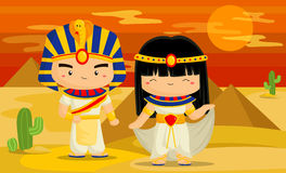 Egypt. A man and women in egypt vector illustration